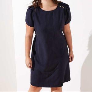 LOFT Plus Shoulder Button Dress NWT